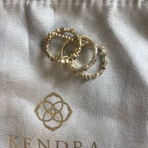 Kendra Scott Karis Ring Set Size 5